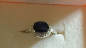 New Price! Sapphire halo ring-New