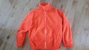 Men's medium orange fleece