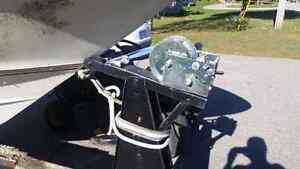 Tandem boat trailer for sale. Boat is free