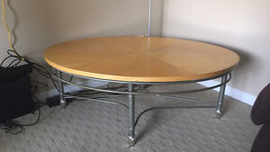 Oval light weight coffee table