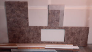 FRENCH DOORS, COUNTER TOP, WALLBOARD