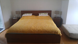 Bedroom set with King size bed
