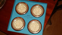Vintage Birks Silverware Coasters/Ash Trays (Used)