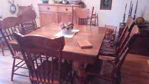 Solid Oak Antique Table and chairs