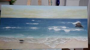 Paysage marin - Grande toile de SylAr