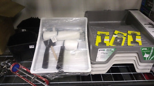 New Paint Supplies - liquidation - trays, scrapers, rollers