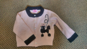 1960s style poodle sweater