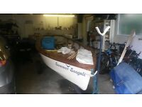 Enterprise Sailing Dinghy. Good condition. Used regularly. Road trailer and launch trolley.