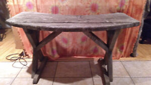 Antique Wood Bench! Solid &Awesome!!