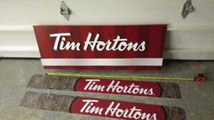Tim Horton's Signs   ---GREAT FOR A MAN CAVE OR GARAGE