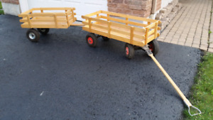 Wagon - detachable tandem trailer included