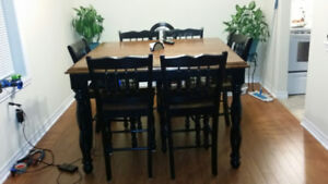 Solid Wood Table\Leaf 6 Chairs