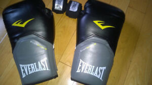 Everlast Evershield 12 Oz and 16 Oz boxing gloves black