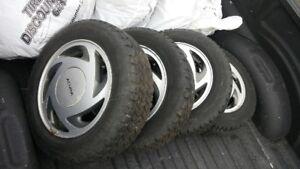 Acua rims and snow tires