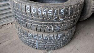 Pair of 2 Michelin Xice 205/65R15 WINTER tires (65% tread life)