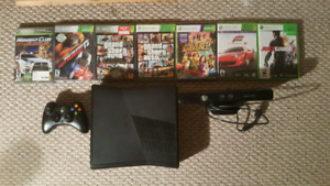 **OBO** 4 GB Xbox 360 Slim with Kinect and 7 games