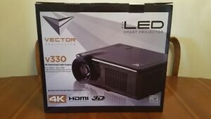 "Vetcor Projection v330 Ultra HD 3D 4K Projector and 72"" Screen"