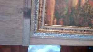 "Two vibrant 16.5"" x 16.5"" scenic pictures w/ornate silver frames London Ontario image 4"