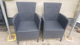Rattan chairs x2