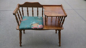 Antique Chair Combo Table