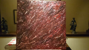 Original Abstract Oil Painting Stratum Various by Des Rosiers Peterborough Peterborough Area image 2