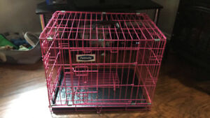 PINK DOG CRATE FOR SMALL DOG