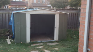 "Metal Outdoor Storage Shed - 10"" W x 6"" D x 5"" H"