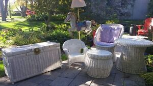 Wicker Chairs and set