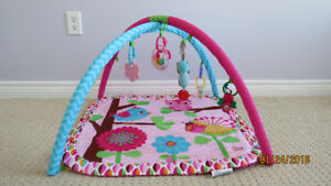 Infant Gym/Playmat & Bouncer Seat -Bright Starts Pink