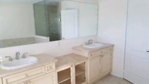 Complete Bathroom Vanity w/ Granite Counters, Sinks and Faucets