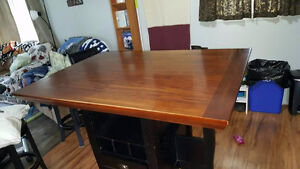Counter height Dining table, 2 chairs, 4 stools. $300