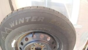 4 virtually new winter tires and rims-Motomaster Winter edge