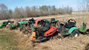 Wrecking lawn and garden tractors for parts!