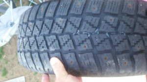 4 winter tires studed