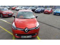 Renault Clio 1.5 DCI 90 DYNAMIQUE S MEDIANAV EDC AUTO (red) 2014
