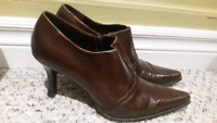 Brown ankle booties size 8.5
