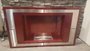 deco flame wall mounted fireplace