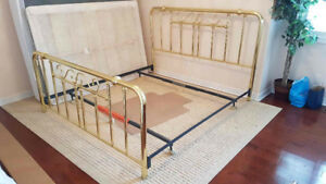 King Size brass bed headboard and footboard