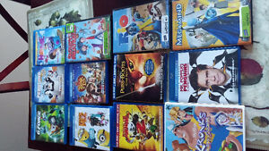 12 Children's DVDs and Blu Rays