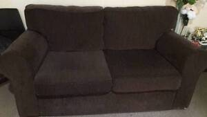 2.5 seater wooden frame febric sofa good condition Westmead Parramatta Area Preview