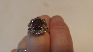 10c white gold and diamond ruby rings