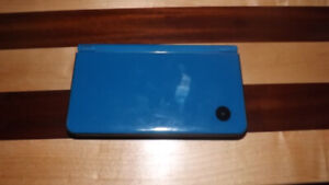 Blue DSi XL with charger and games