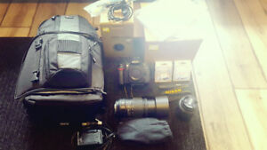 Nikon D90 DSLR with A LOT of EXTRAS