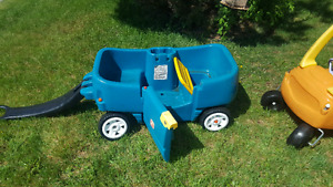 Step 2 kids wagon and Little Tikes kids car