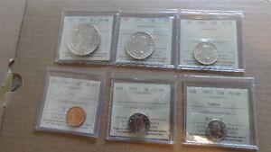 1957 Canadian Coins Mint Set - Graded ICCS PL-66 and MS-65 GEM Edmonton Edmonton Area image 6