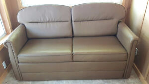 Leather Bed Chesterfield out of RV makes queen size air bed new