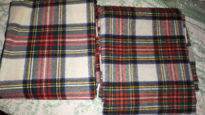 FS: 2 pieces of plaid wool, NEW