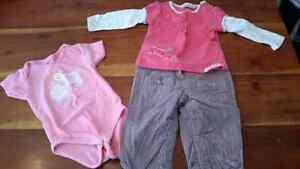 Lot vêtements fille 6-9 mois West Island Greater Montréal image 7