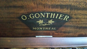 upright Piano excellent condition, refinished perfect ivorys