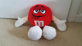 Mars M&M Red Plush Toy 2014 12''